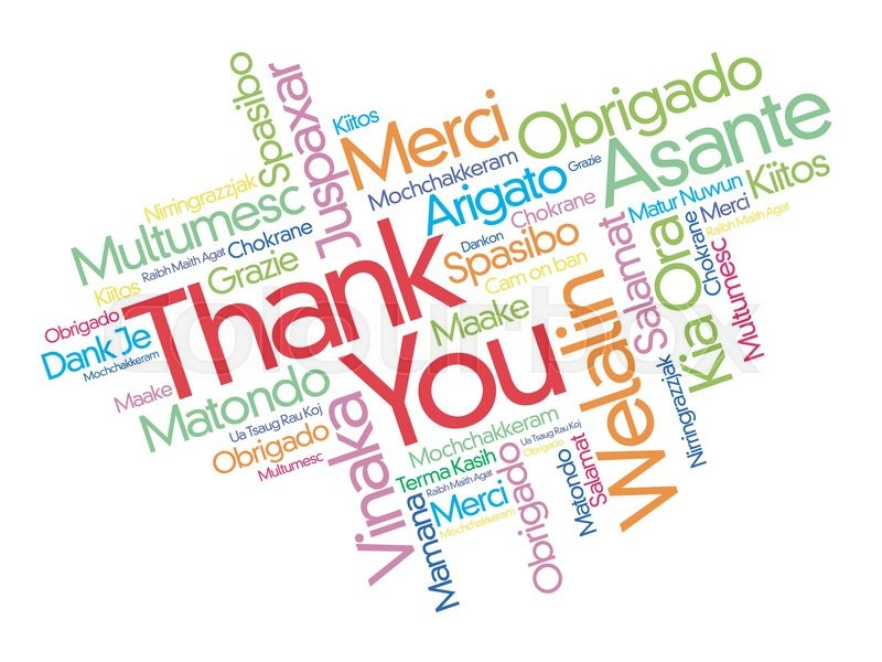 Stock vector of 'Thank You word cloud in different languages, concept background'