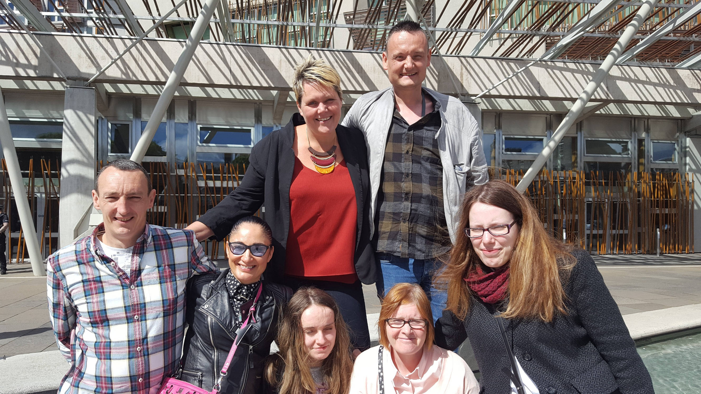 Group 2 at Scottish Parliament with Steven Connelly (no logo)