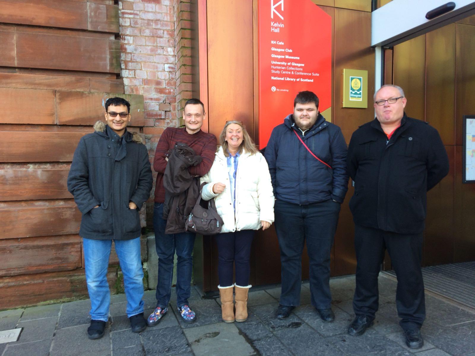 Group 1 at Kelvinhall