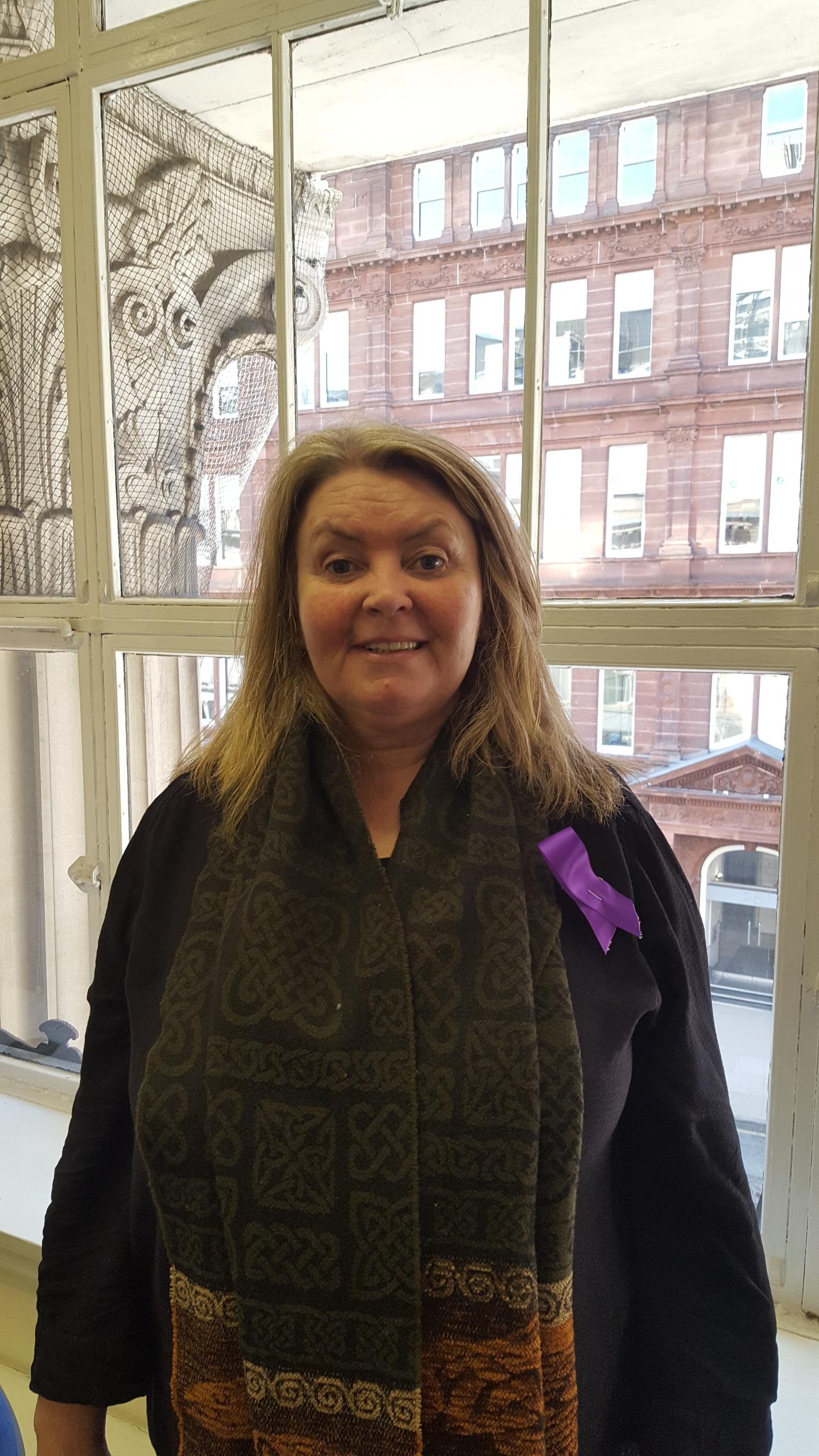 Sharon Purple Day Pic